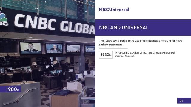 nbc universal   slidegenius powerpoint design & pitch deck, Cnbc Presentation Template, Presentation templates