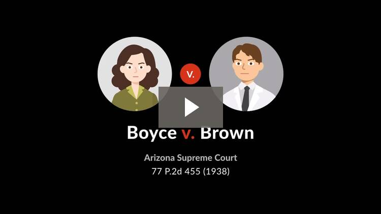 Boyce v. Brown