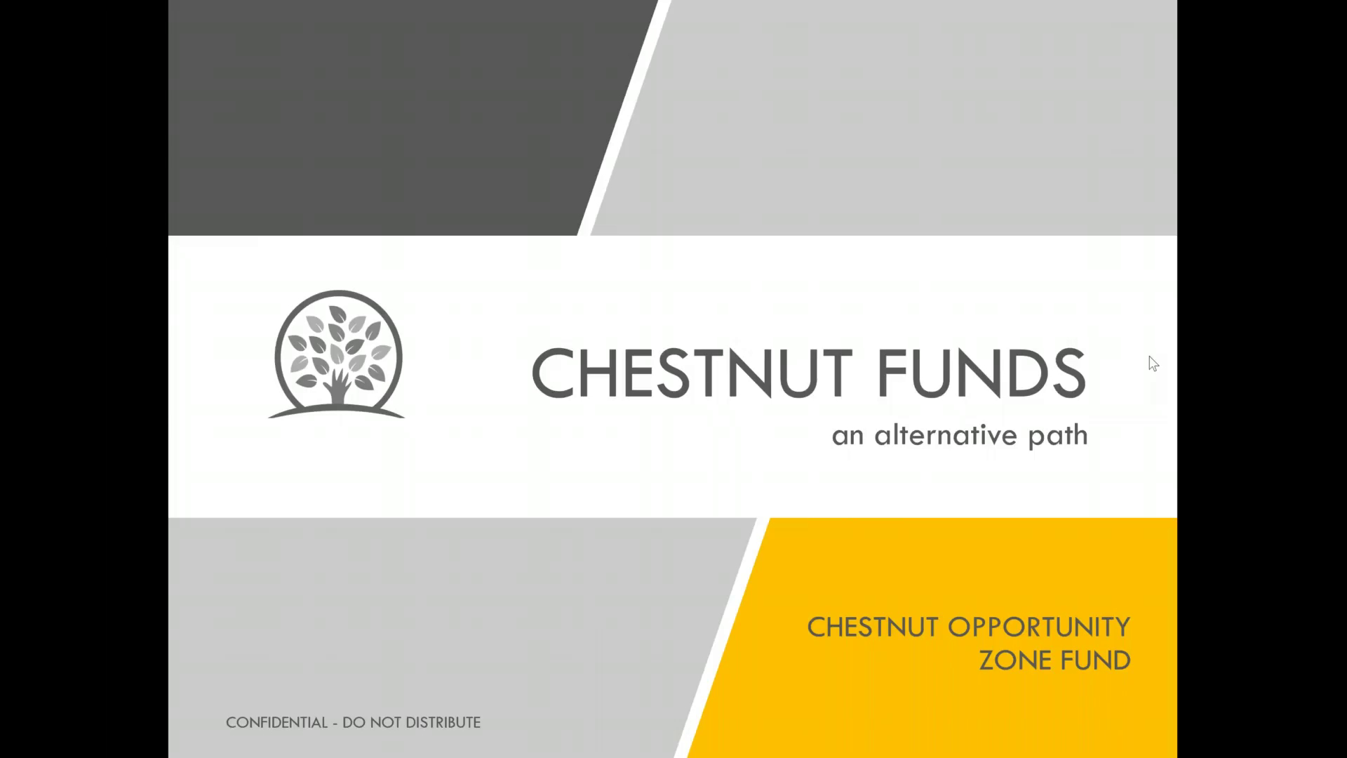 Investment Video - Chestnut Opportunity Zone Fund