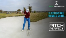 Pitch Perfect - Bunkers: The 3-Inch Line Drill