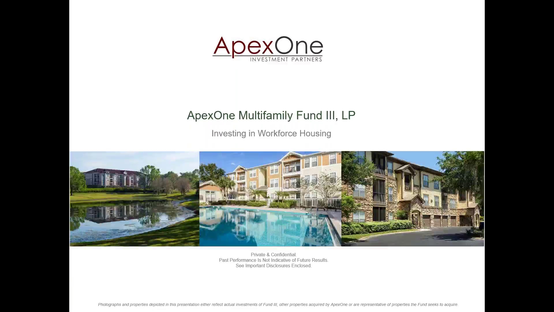 Investment Video - ApexOne Multifamily Fund III, LP