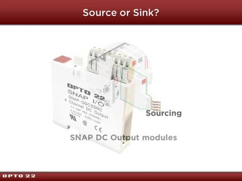 Module names: -SRC vs. -SNK (Sourcing vs. Sinking)