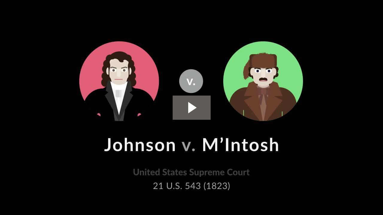 Johnson v. M'Intosh