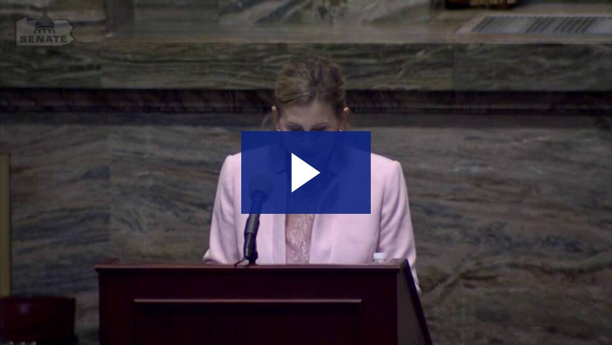 6/15/21 - Sen. Kim Ward Introduces Idelia Robinson-Confere and Remarks About The Court-Appointed Special Advocate (CASA) Program