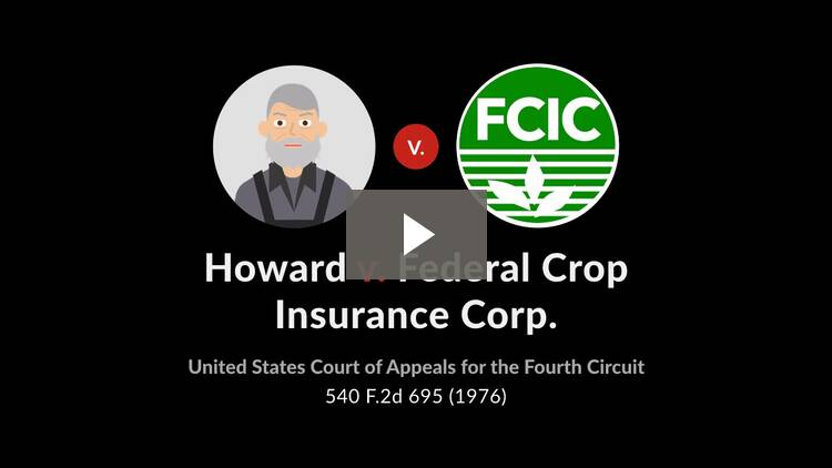 Howard v. Federal Crop Insurance Corp.