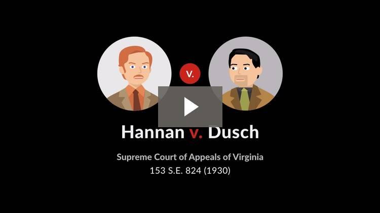 Hannan v. Dusch