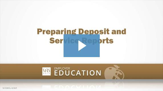 Thumbnail for the 'Preparing Deposit and Service Reports' video.