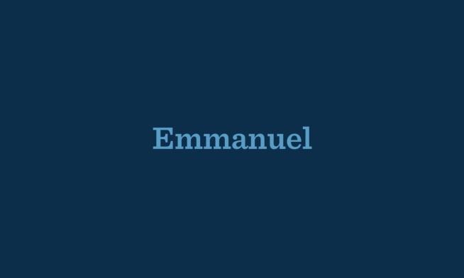 Emmanuel: A New Song