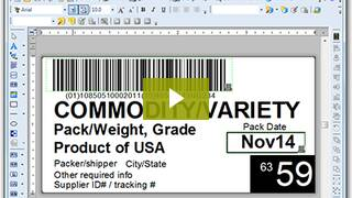 Pti barcode label printing nicelabel nicelabel offers both case and pallet label templates for produce traceability compliance pronofoot35fo Image collections