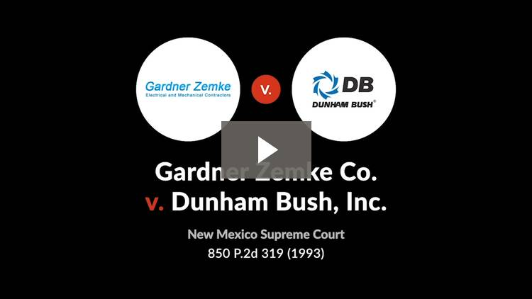 Gardner Zemke Co. v. Dunham Bush, Inc.