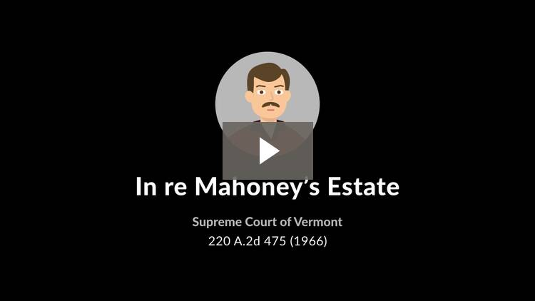 In re Estate of Mahoney
