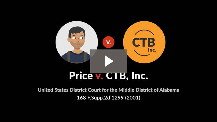 Price v. CTB, Inc.