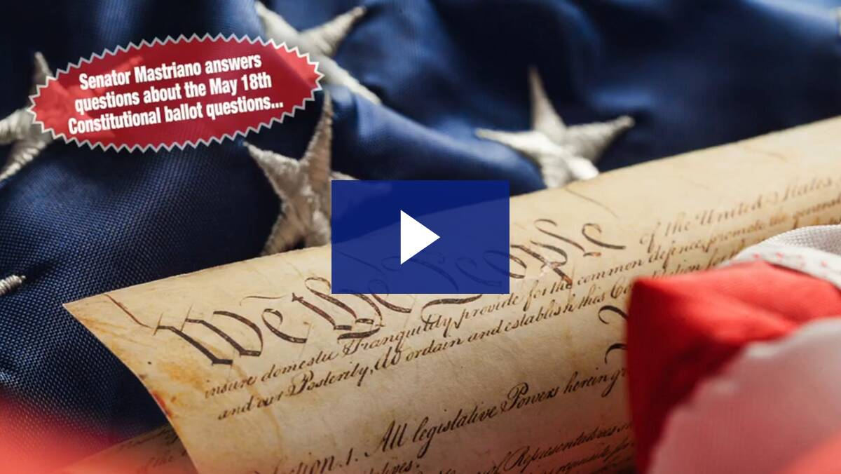 5/14/21 - Podcast: May 18th Constitutional Ballot Questions