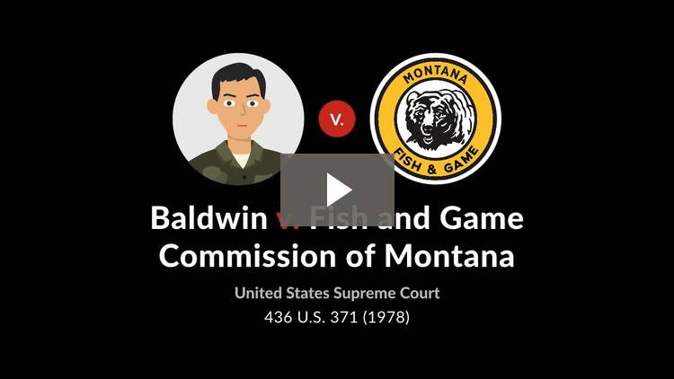 Baldwin v. Fish & Game Commission of Montana