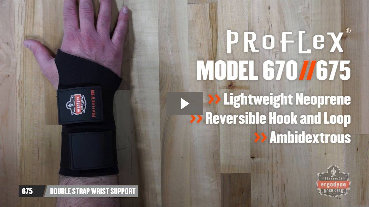 Ergodyne Product Video - ProFlex<sup>®</sup> 670 Ambidextrous Single Strap Wrist Support