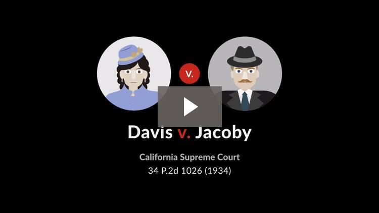 Davis v. Jacoby