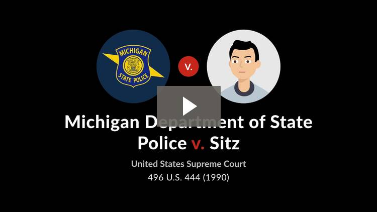 Michigan Department of State Police v. Sitz