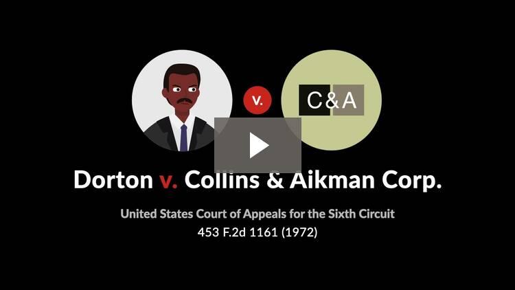 Dorton v. Collins & Aikman Corp.