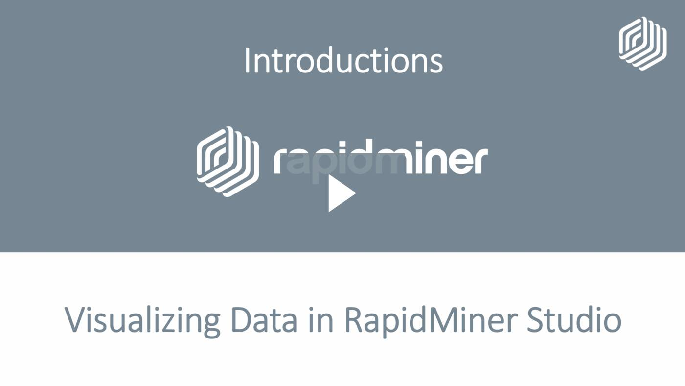 Visualizing Data in RapidMiner Studio