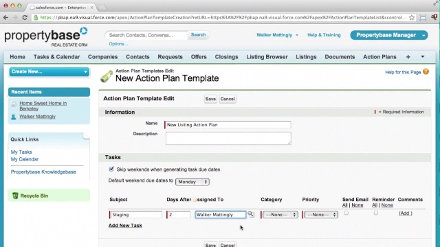 Action Plans - Part 1 of 2: Set up – Propertybase Help Center
