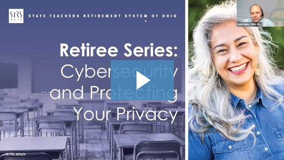 Thumbnail for the 'Retiree Series Cybersecurity and Protecting Your Privacy' video.