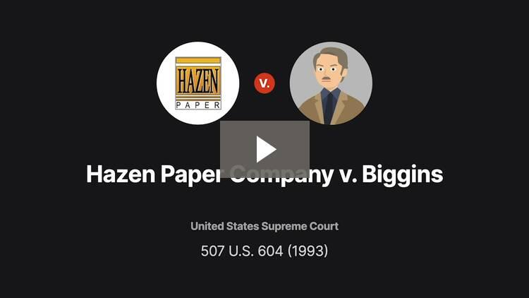 Hazen Paper Co. v. Biggins