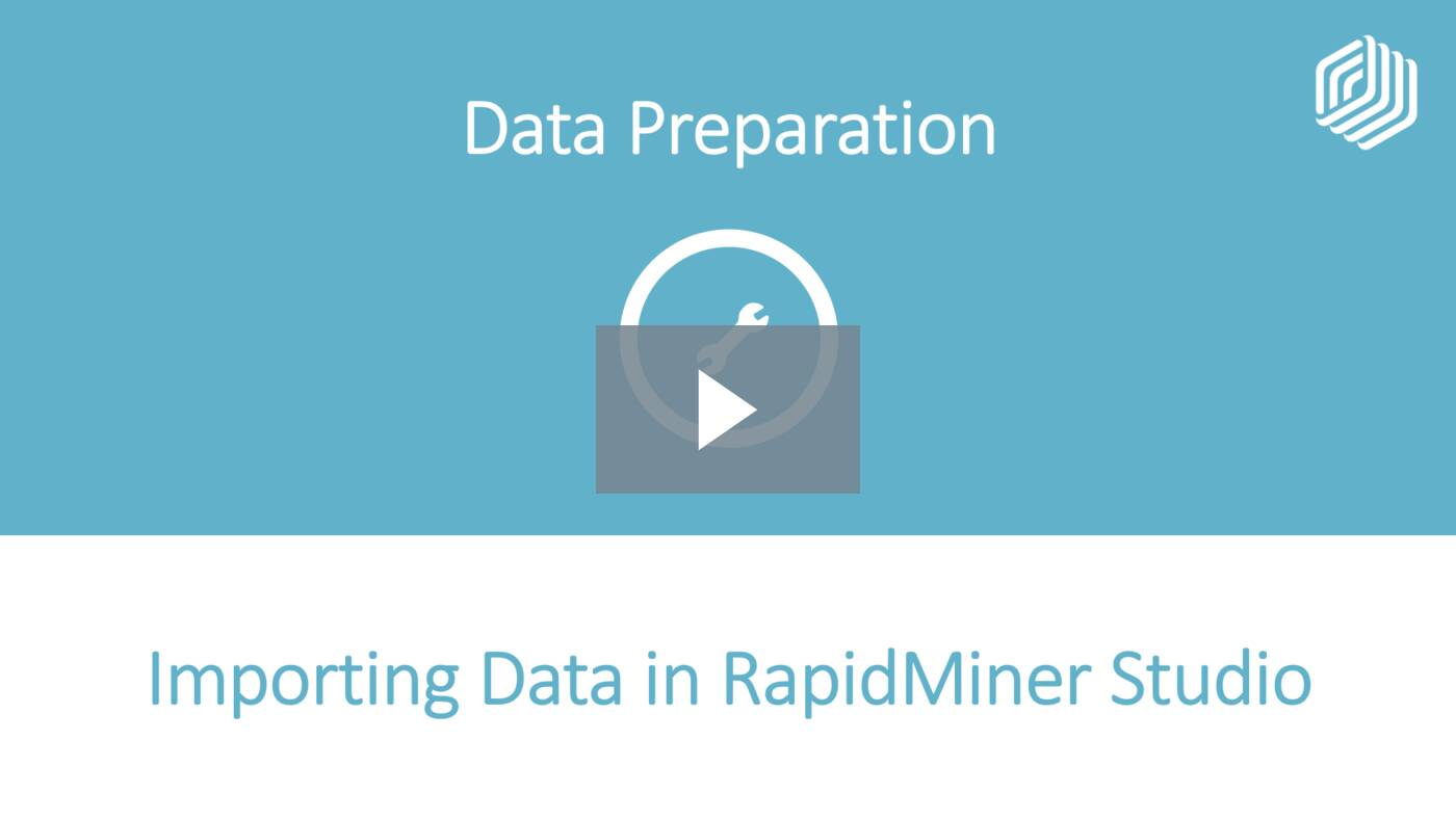 Importing Data in RapidMiner Studio