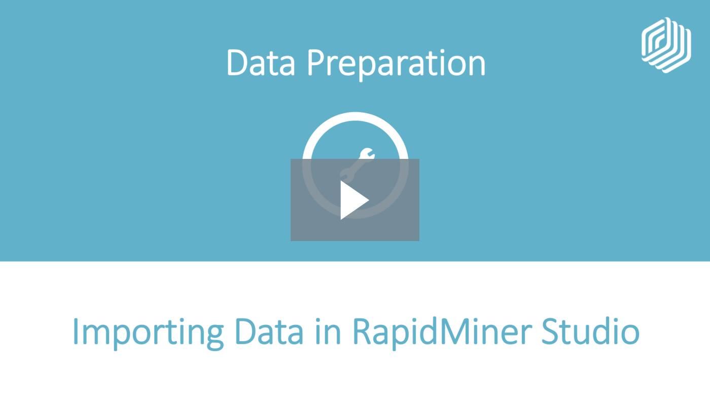 Importing Data in RapidMiner Studio