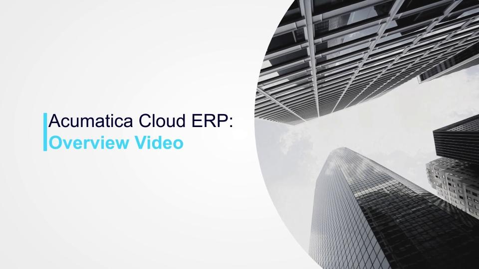 Acumatica Cloud ERP Overview Video