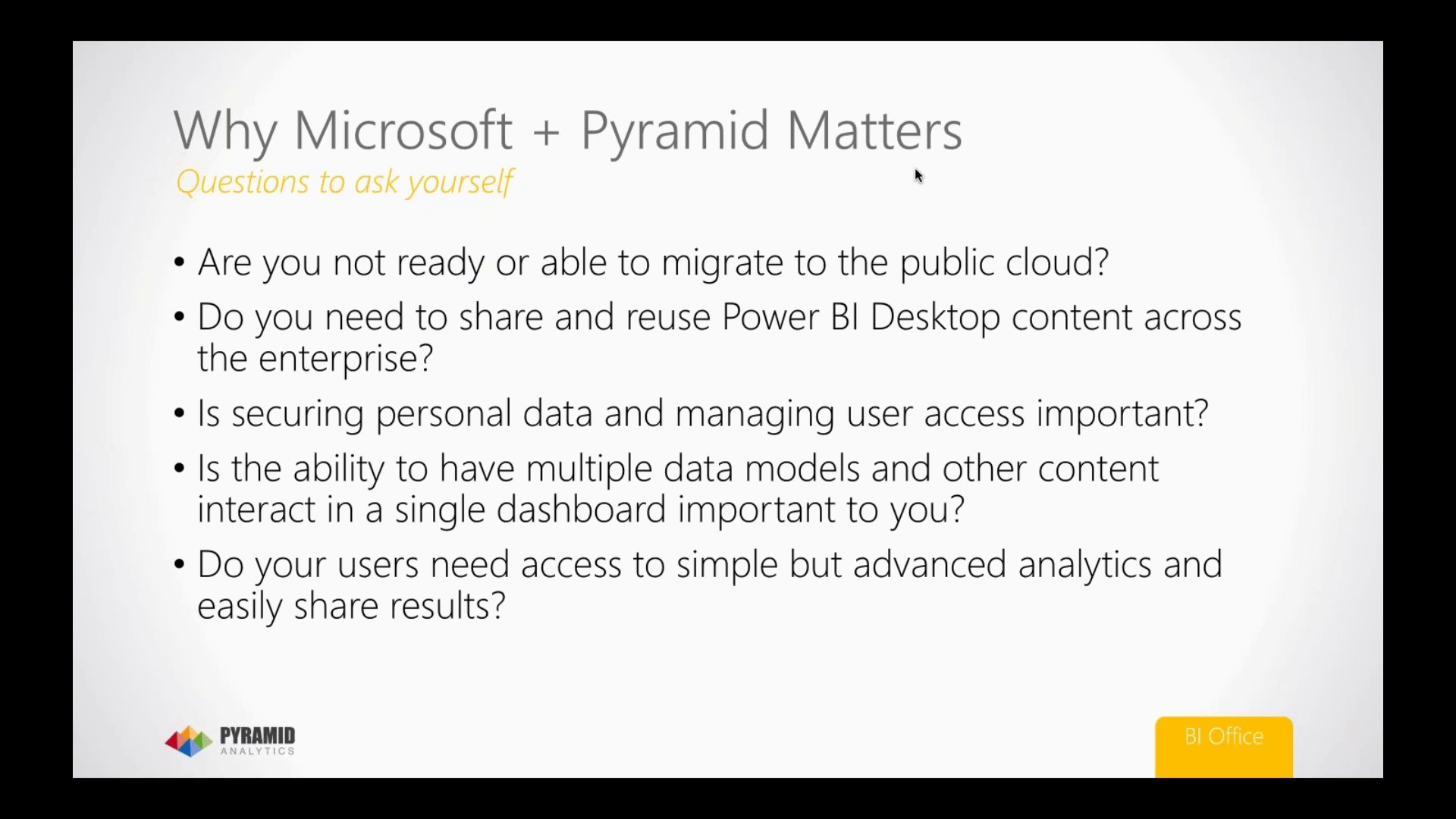 On-Premise Business Intelligence for Power BI from Pyramid Analytics