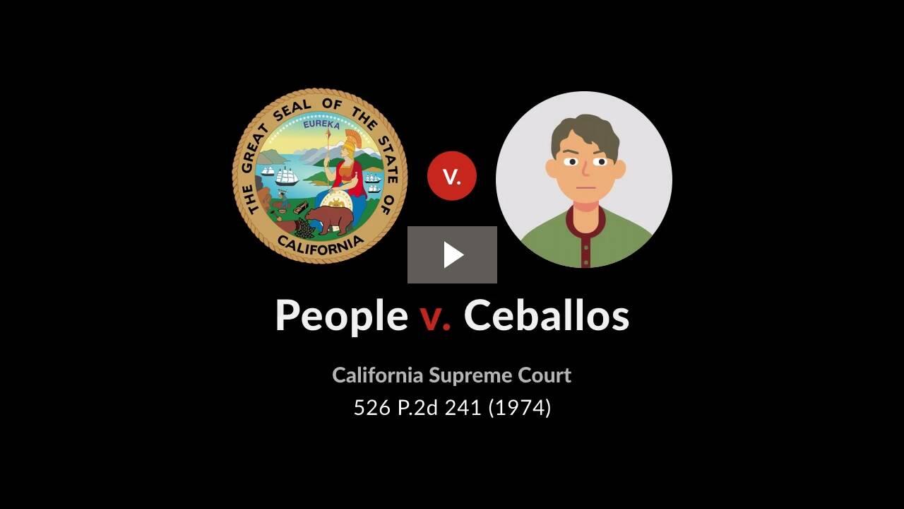 People v. Ceballos