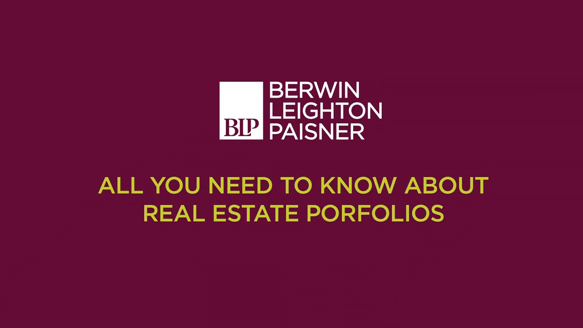 Still image from 'All you need to know about real estate portfolios' video
