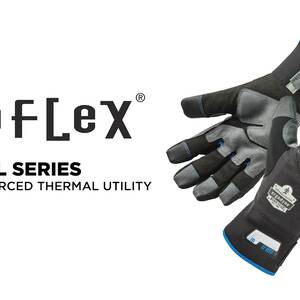 Ergodyne Product Video - ProFlex<sup>®</sup> 817 Thermal Winter Work Gloves w/ Reinforced Palms