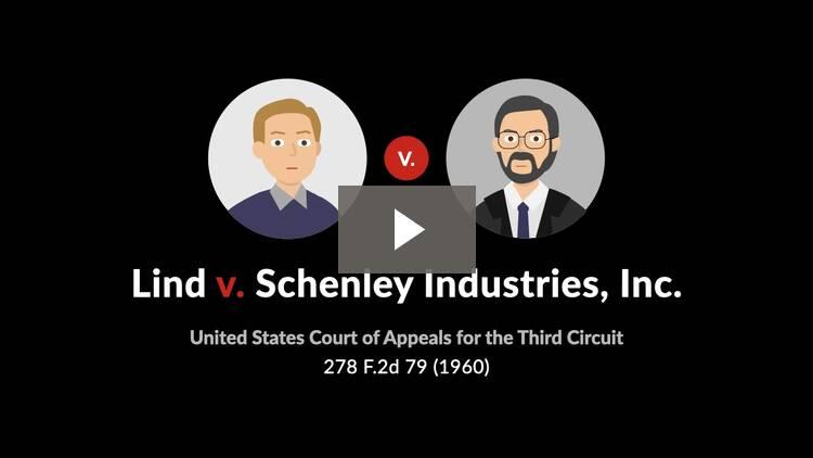 Lind v. Schenley Industries