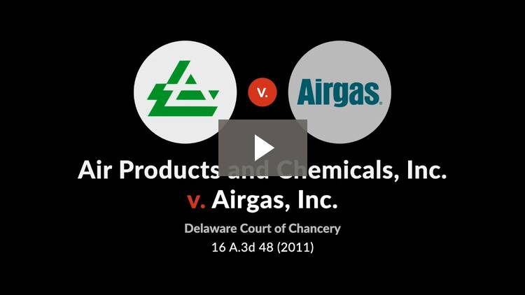 Air Products and Chemicals, Inc. v. Airgas, Inc.