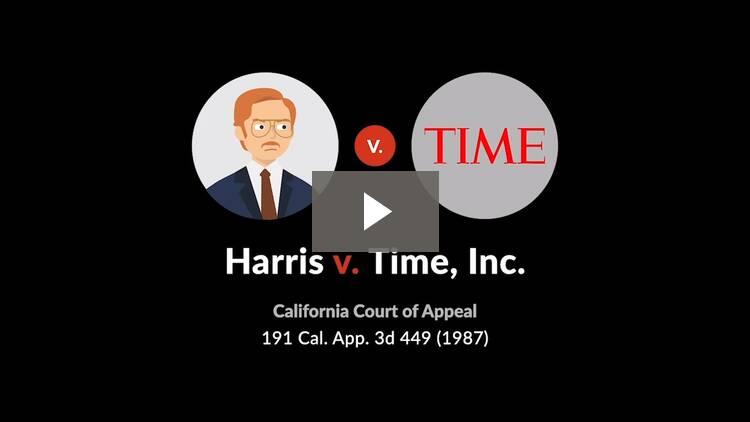 Harris v. Time, Inc.