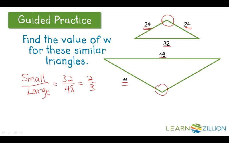 Find A Length By Using A Scale Factor And A Proportion Learnzillion
