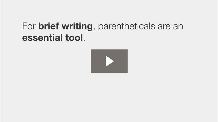 Avoid Parentheticals and Double Negatives