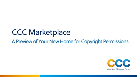 Marketplace: A Preview of Your New Home for Copyright Permissions