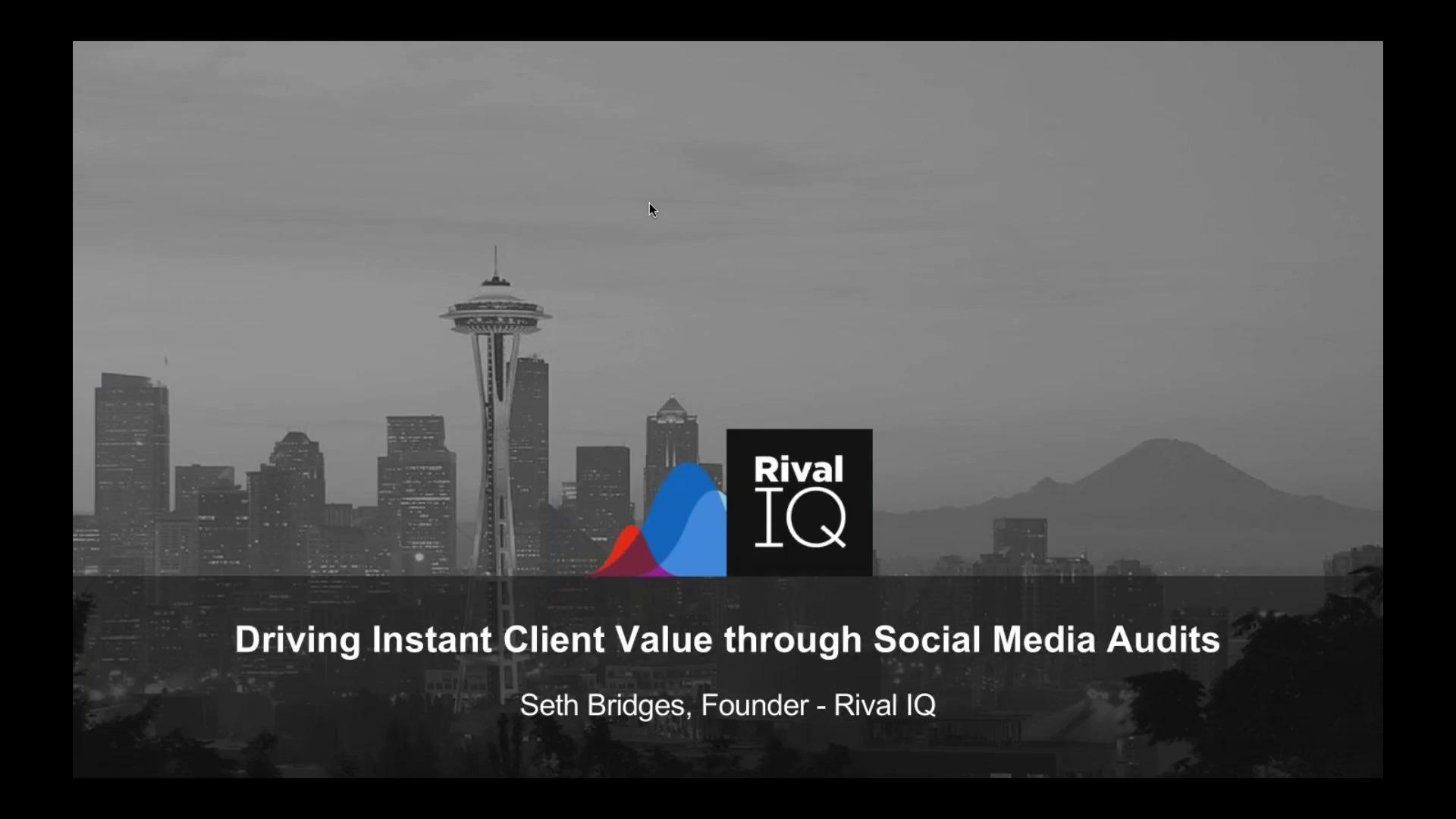 Driving Instant Client Value through Social Media Audits