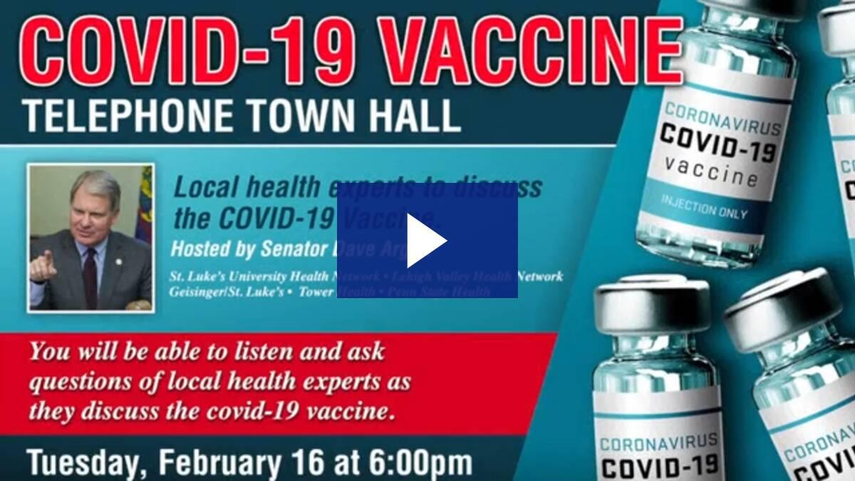 2/16/21 - COVID-19 Vaccine Telephone Town Hall