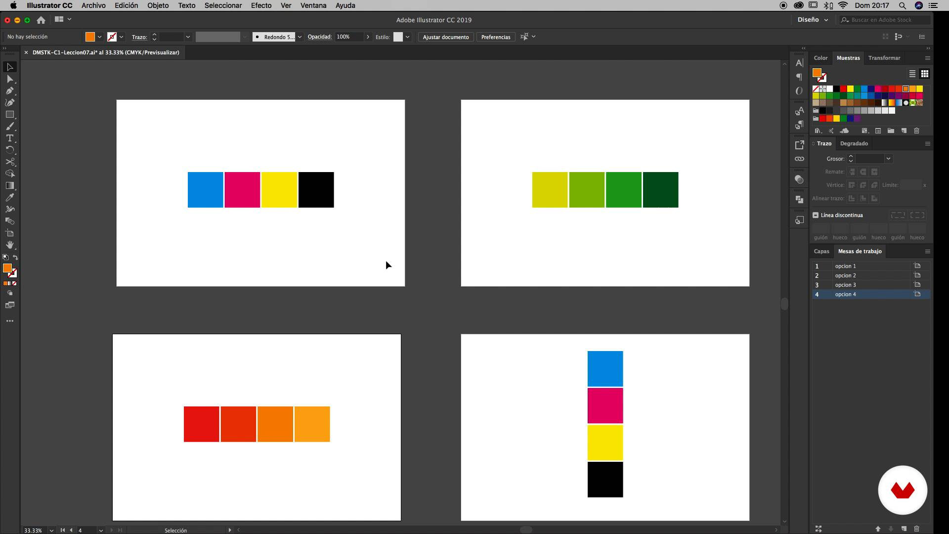 Mesas De Trabalho Curso 1 Primeiros Passos No Illustrator Typebrain Domestika