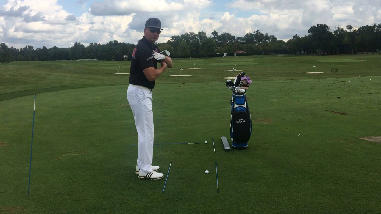 Use Alignment Rods to Correct Your Set-up and Ball Position