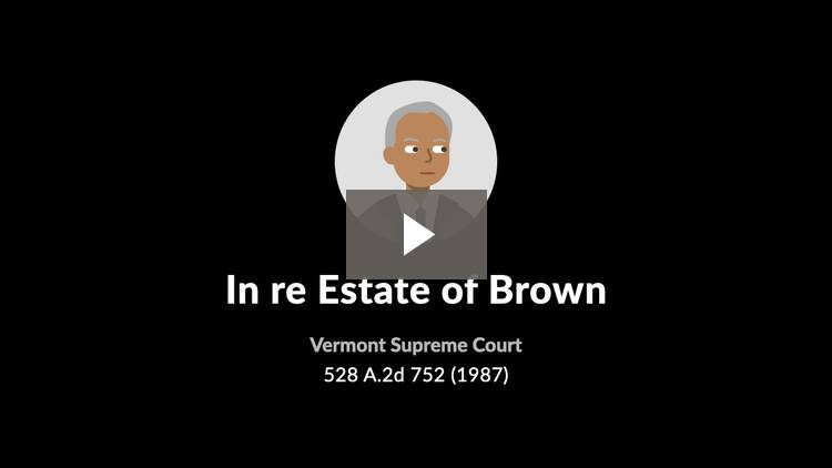 In re Estate of Brown