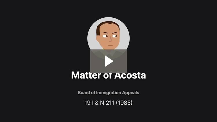 Matter of Acosta