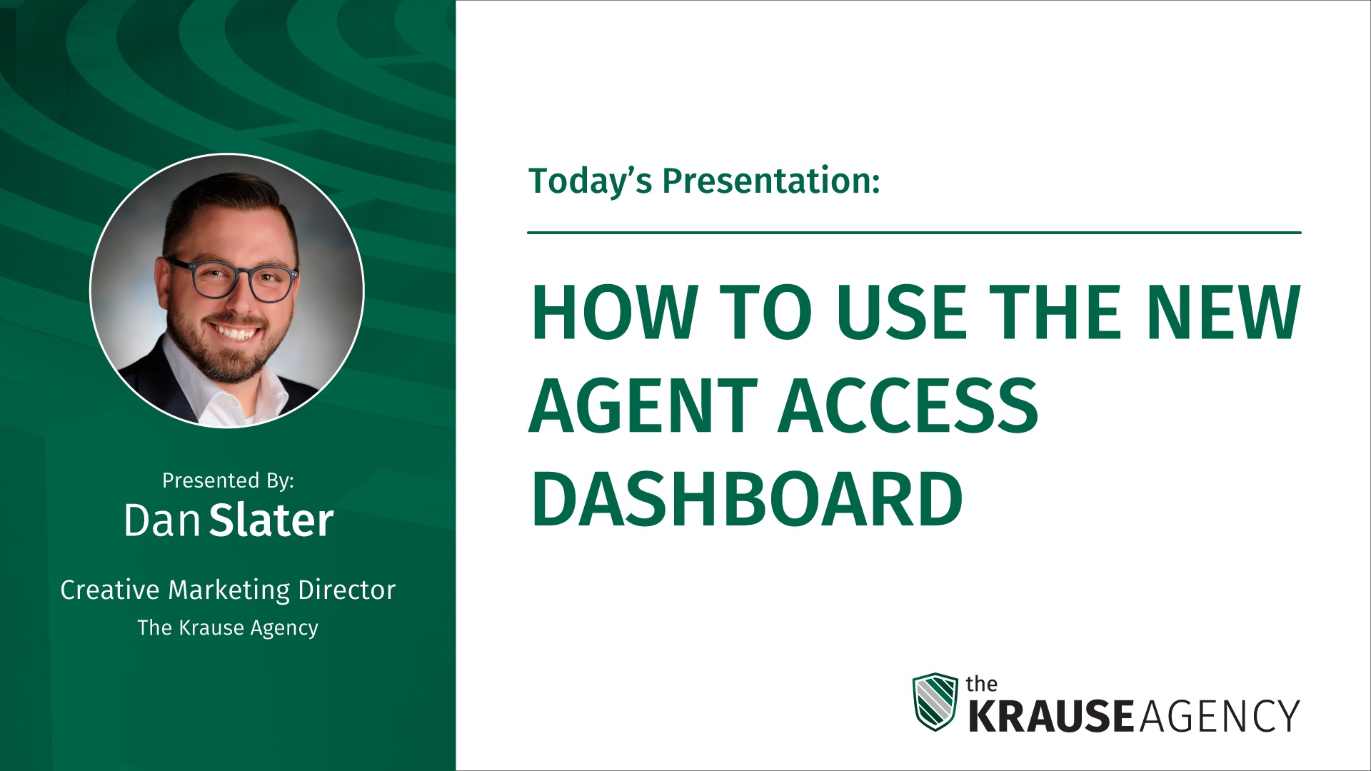 How to Use the New Agent Access Dashboard