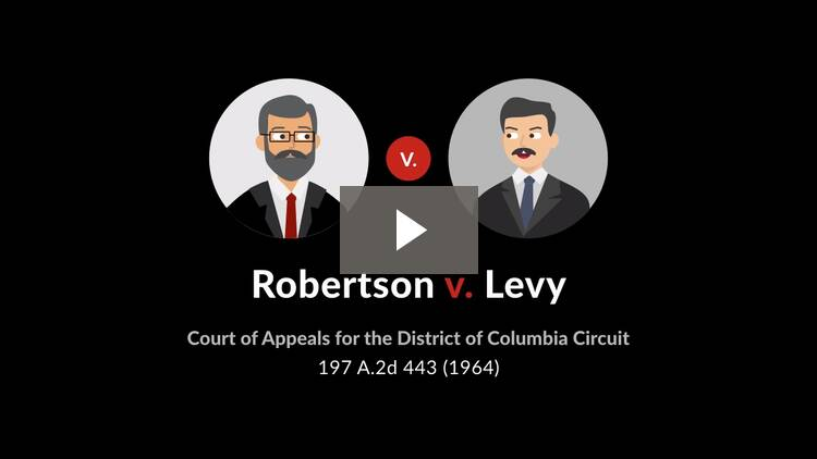Robertson v. Levy