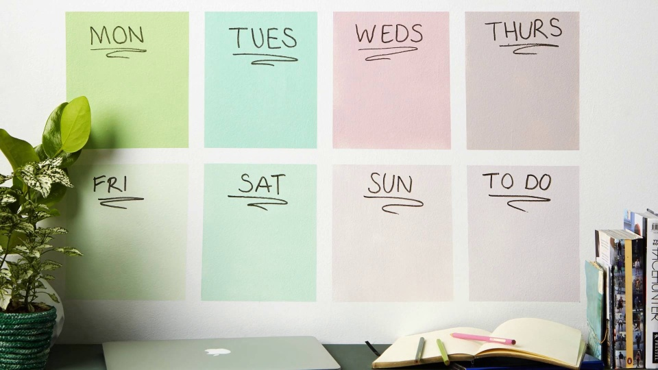 Habitat TV Video: DIY weekly wall planner