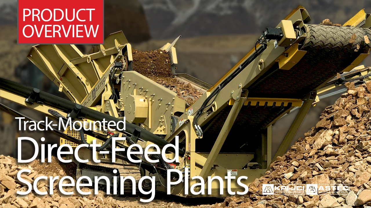 Track-Mounted Direct-Feed Screening Plants Product Overview