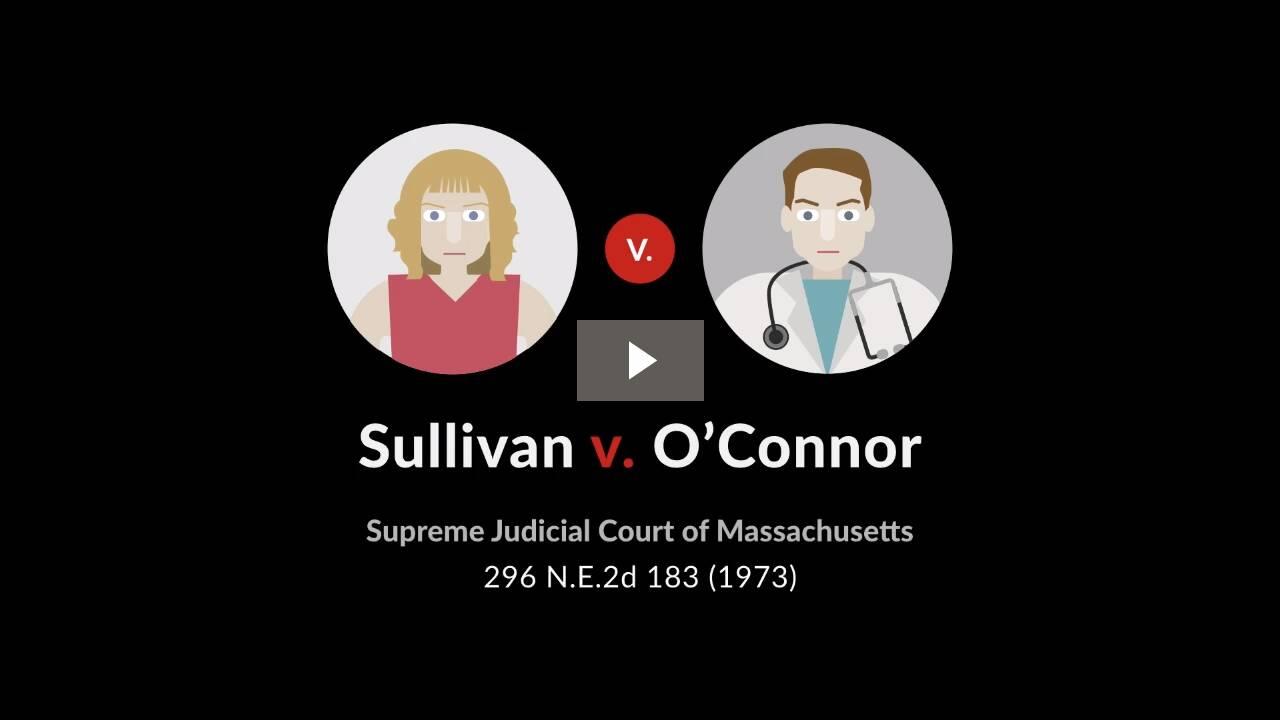 Sullivan v. O'Connor